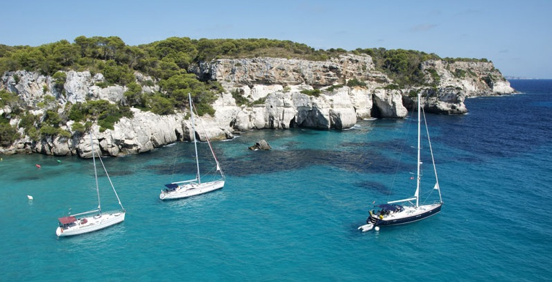 Una cala en Menorca