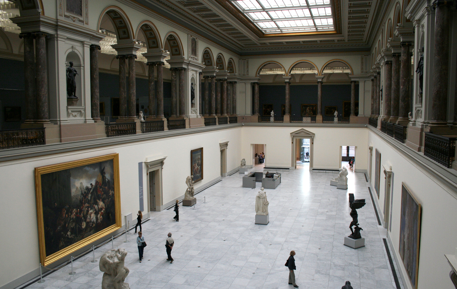 Interior del Royal Musseum en Bruselas