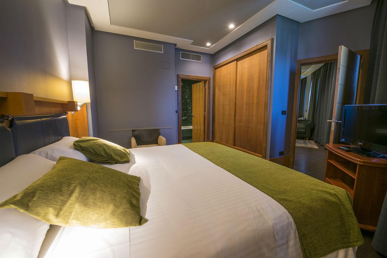 Una de las habitaciones del Gran Hotel Lakua