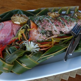 Typical red snapper grill