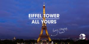 Ya es posible pasar una noche de hotel en la Torre Eiffel