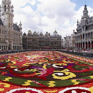 Ofrenda floral en Bruselas