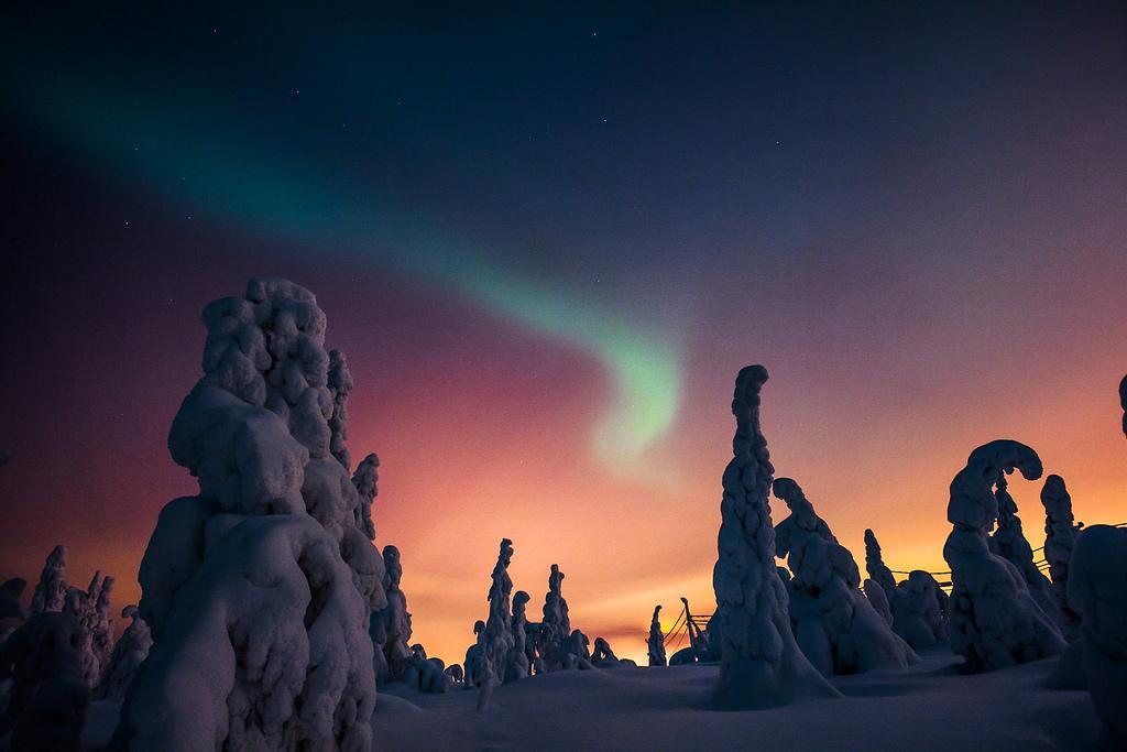 Aurora boreal en Iso-Syöte. ©Flickr/Visit Finland