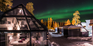 Siete hoteles de cristal para dormir bajo las auroras boreales